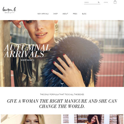 Lauren B Beauty - luxury nail polish website