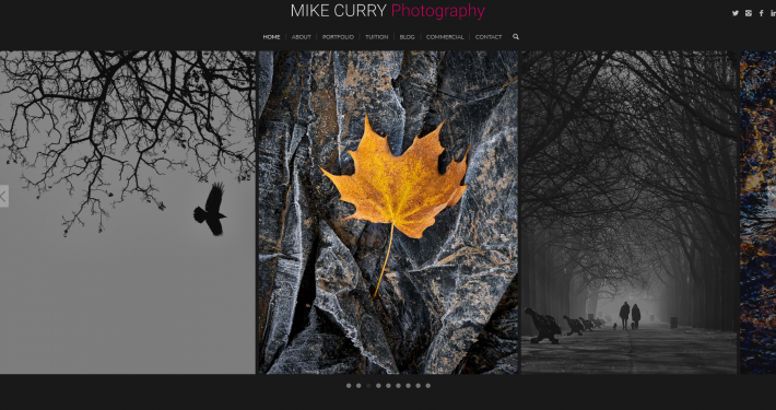 Mike Curry Photography Web Design